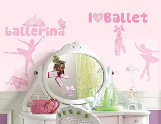 Ballet Glitter Wall Decals