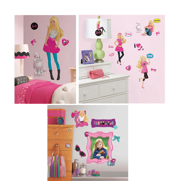 Barbie decal room package 1 for Barbie wall mural