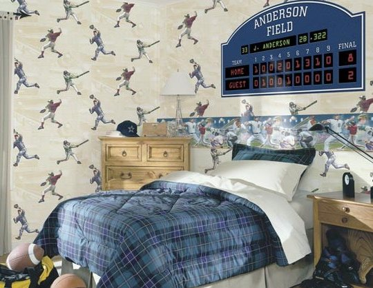Sports Theme Boys Bedroom Wall Decals Stickers