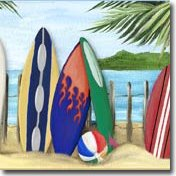 Beach & Surf Wall Decals