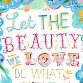Beauty We Love Poster Decal