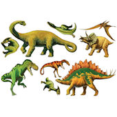 Biggies Dinosaurs Wall Stickies Decals