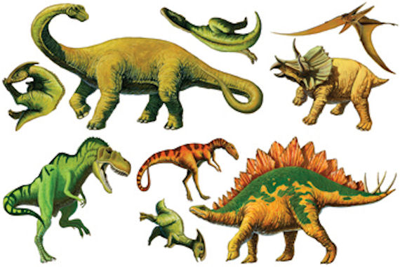 Biggies Dinosaurs Wall Stickies Decals - Wall Sticker Outlet