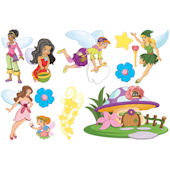 Biggies Fairies Wall Stickies Decals