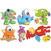 Biggies Monsters Wall Stickies Decals