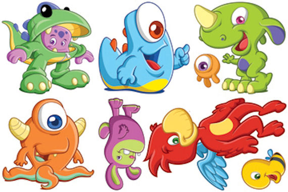 Biggies Monsters Wall Stickies Decals - Wall Sticker Outlet