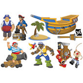 Biggies Pirates  Wall Stickies Decals
