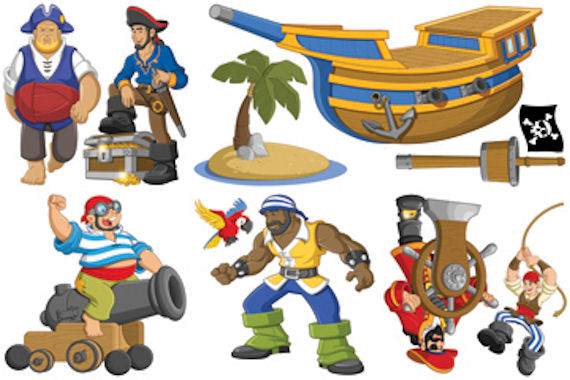 Biggies Pirates  Wall Stickies Decals - Wall Sticker Outlet
