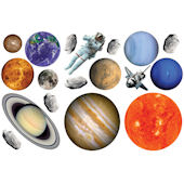 Biggies Planets  Wall Stickies Decals
