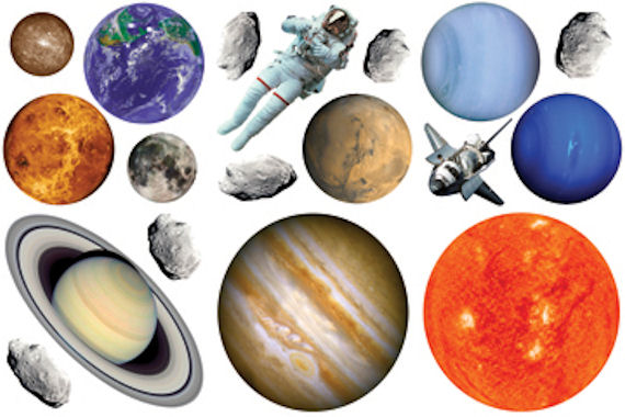 Biggies Planets  Wall Stickies Decals - Wall Sticker Outlet
