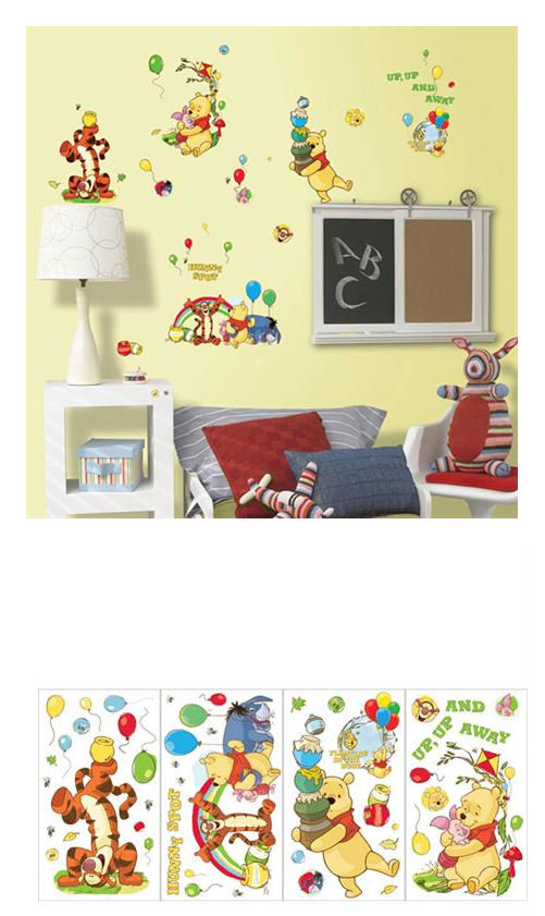 Blue Mountain Disney Winnie The Pooh Appliques - Wall Sticker Outlet