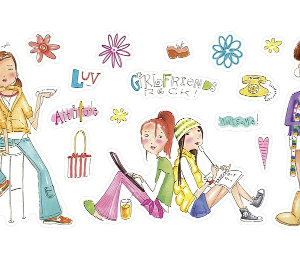 Girlfriends Wall Cutouts Set 1 - Wall Sticker Outlet