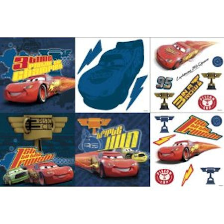 3D Disney Cars Victory Lane Deco Kit - Wall Sticker Outlet