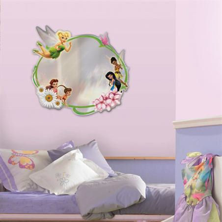 Disney Tinker Bell Fairies Peel and Stick  Mirror - Wall Sticker Outlet
