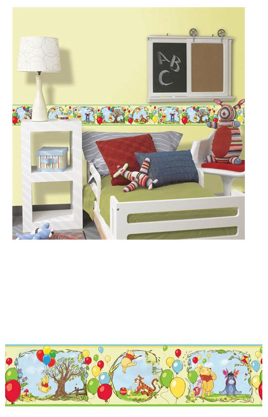 Disney Poohs Bother Free Day Border - Wall Sticker Outlet