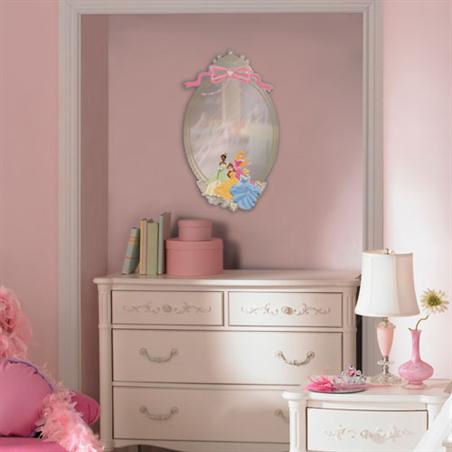 Disney Princess Peel and Stick Mirror - Wall Sticker Outlet