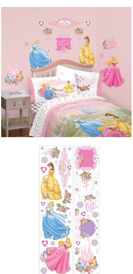 Princess Instant Decor Sticker Kit - Wall Sticker Outlet