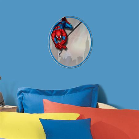 Marvel Spiderman  Peel and Stick Mirror - Wall Sticker Outlet