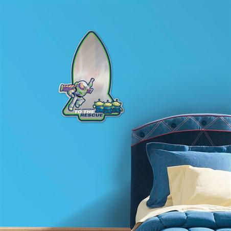 Disney Toy Story  Peel and Stick  Mirror - Wall Sticker Outlet