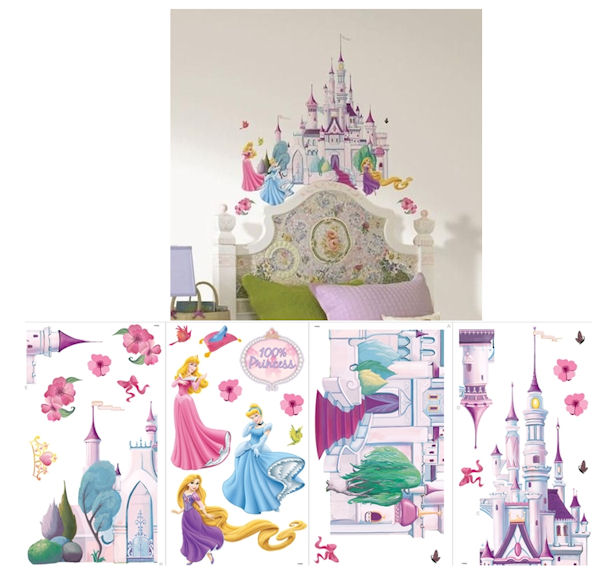 Disney Princess Self Stick Castle Decals - Wall Sticker Outlet