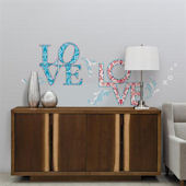 Love Self Stick Home Wall Art SALE