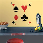 Poker Face Self Stick Home Wall Art SALE