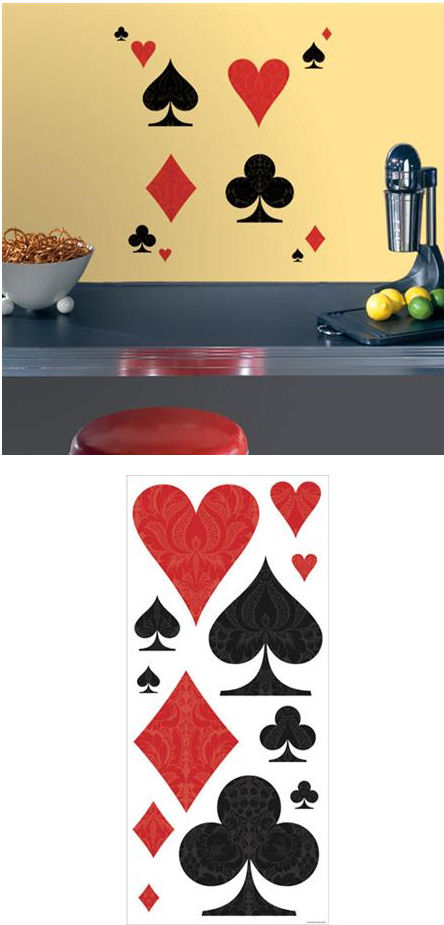 Poker Face Self Stick Home Wall Art SALE - Wall Sticker Outlet