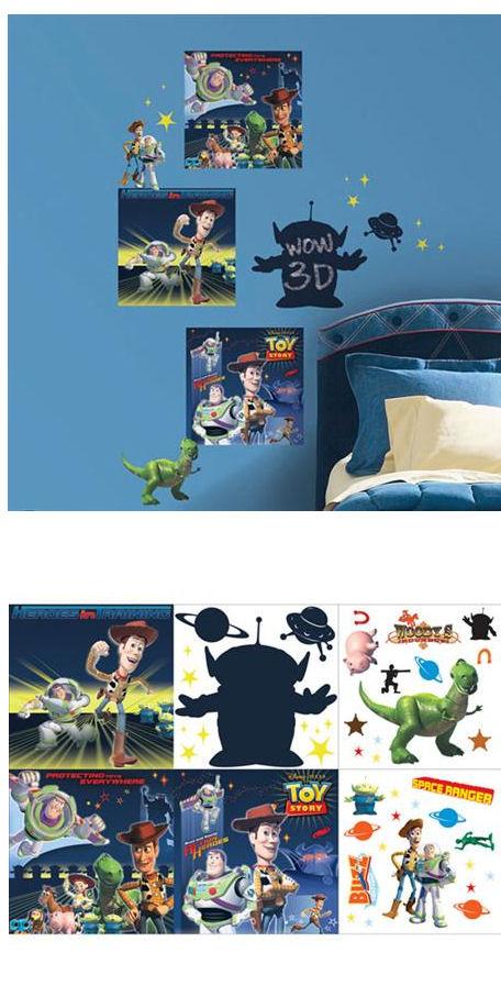 Toy Story 3D Self Stick Decorating Kit - Wall Sticker Outlet
