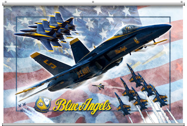 Blue Angels Minute Mural - Wall Sticker Outlet