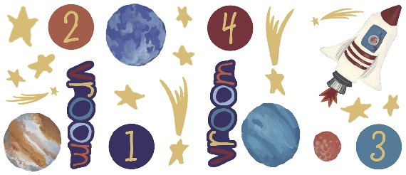 Intergalactic Space Appliques SALE - Wall Sticker Outlet