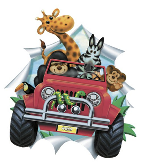 Jeep Safari Applique Red