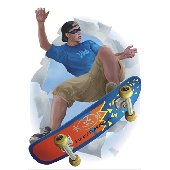 Skateboarder Break Out Peel and Stick Appliques