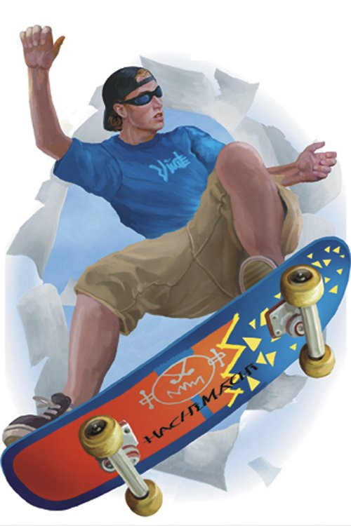 Skateboarder Break Out Peel and Stick Appliques - Kids Wall Decor Store