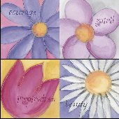 Walls my Way Set 4 Floral Peel Stick Panel SALE