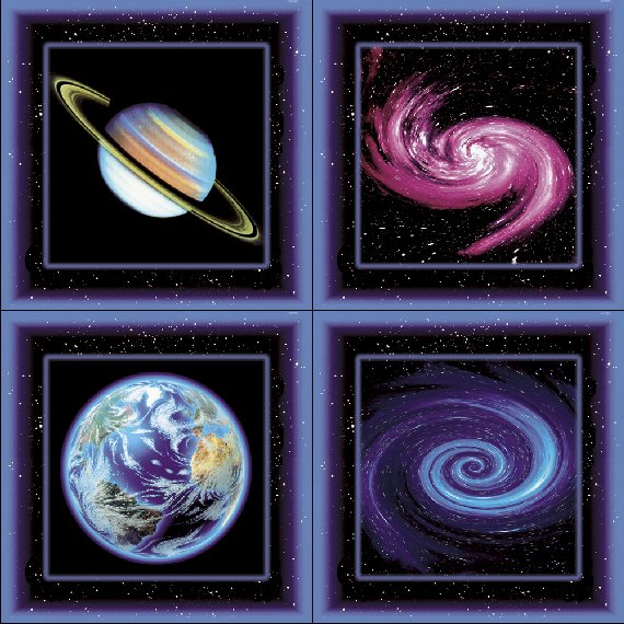 Walls my Way Solar System Peel Stick Wall Panel - Kids Wall Decor Store