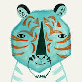 Blue Tiger Poster Decal