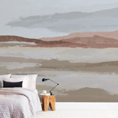 Minted Blushing Expanse Repositionable Wall Mural