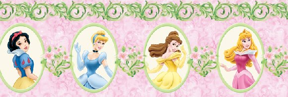 Disney Princess Magic Garden Wall Border - Kids Wall Decor Store