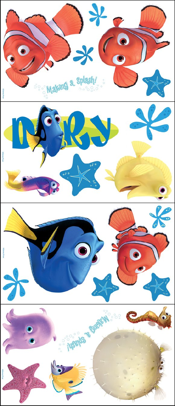 Finding Nemo Self Stick Room Appliques   Wall Sticker Outlet Part 97
