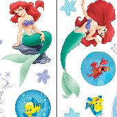 Little Mermaid Ariel Reflections Room Appliques