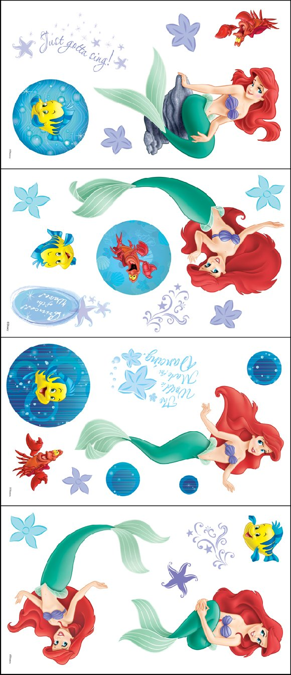 Little Mermaid Ariel Reflections Room Appliques - Wall Sticker Outlet