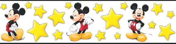 Disney Starlight Mickey Mouse Wall Border - Wall Sticker Outlet