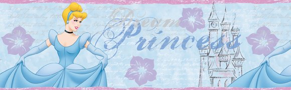 Disney Cinderella Diary 5-Inch Wall Border - Kids Wall Decor Store