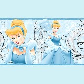 Disney Cinderella Diary Princess Wall Border