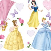 Disney Princess and Pearls Room Appliques
