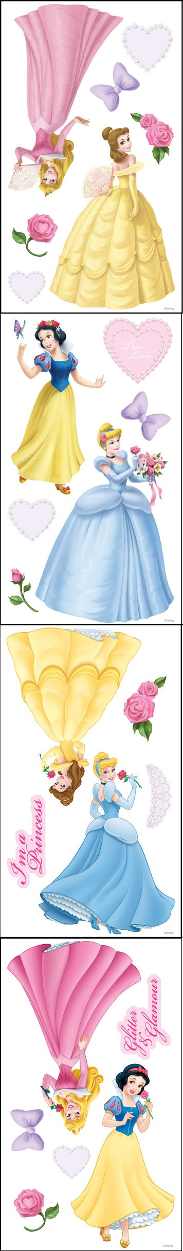 Disney Princess and Pearls Room Appliques - Kids Wall Decor Store