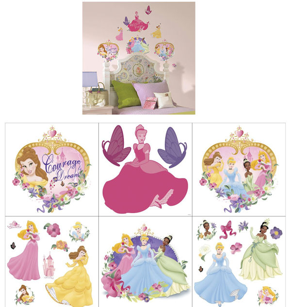 Disney Princess and Pearls Decorating Kit SALE - Wall Sticker Outlet