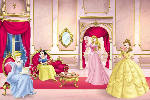 disney princess ballroom 8 foot wall mural