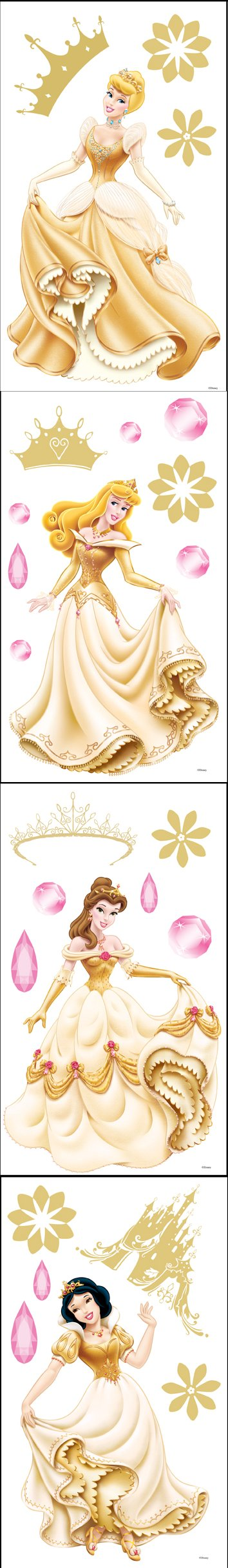 Disney Enchanted Princess Room Appliques - Wall Sticker Outlet