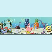 Spongebob Squarepants Giant Wall Sticker Mural - Spongebob room decals